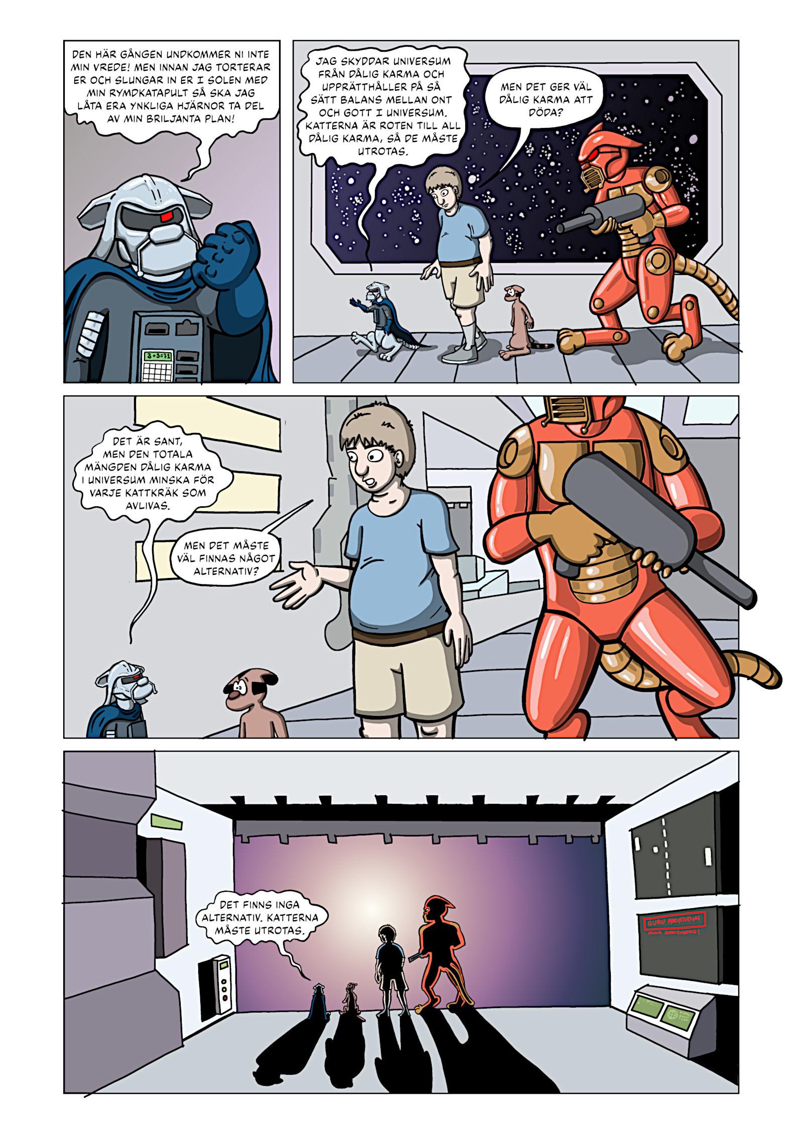 Rymdkatterna Anfaller – Sida 15