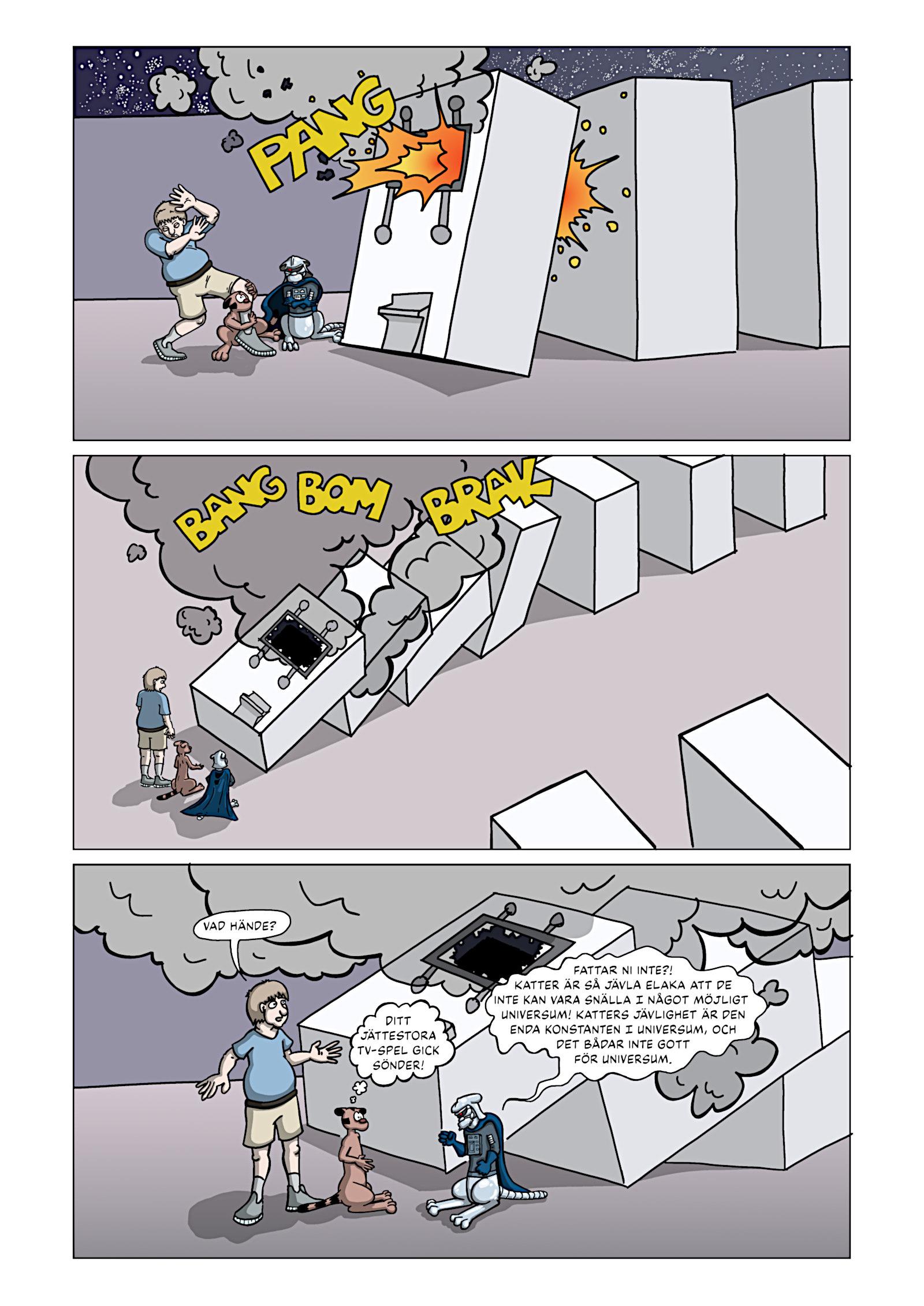 Rymdkatterna Anfaller – Sida 17