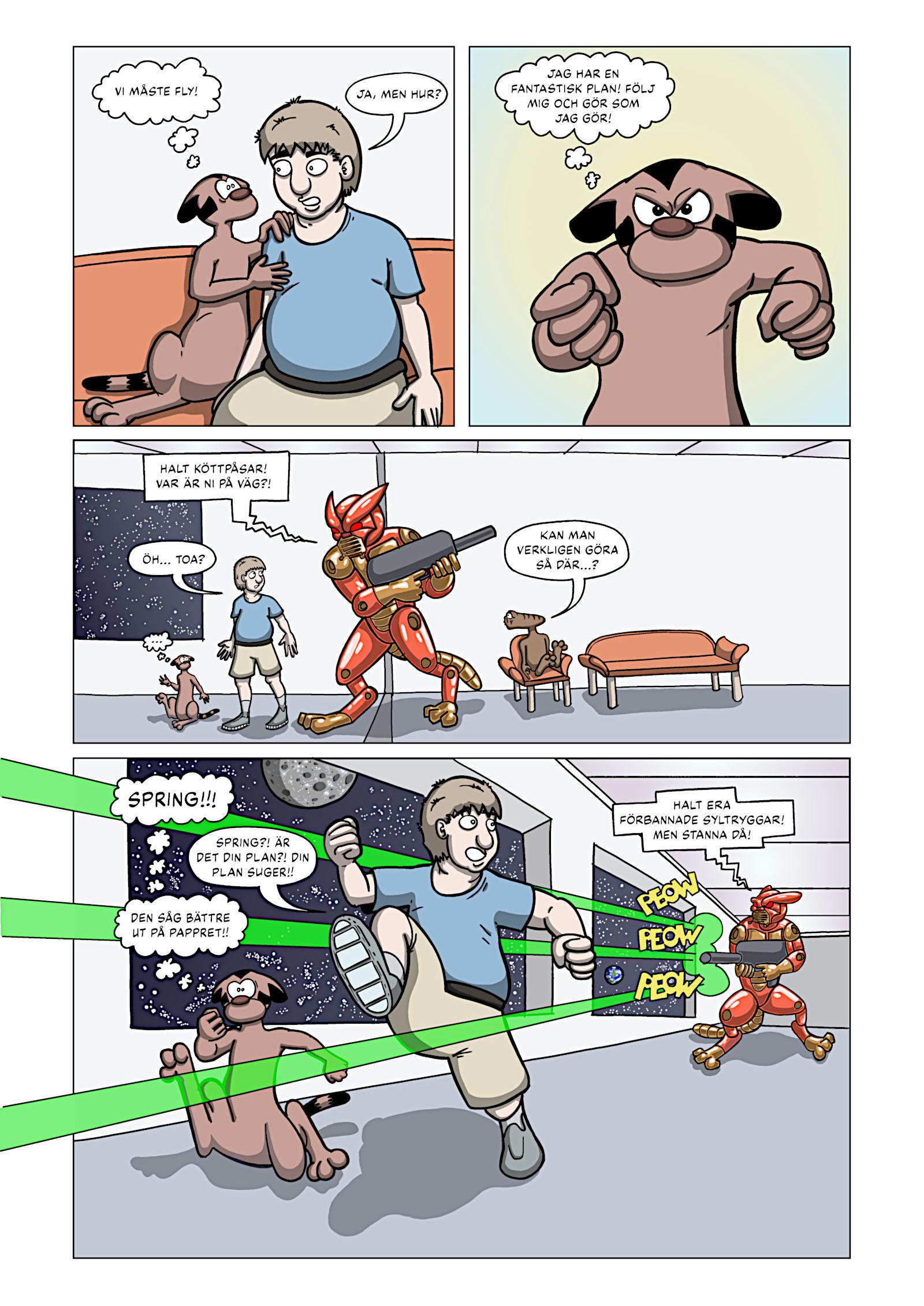 Rymdkatterna Anfaller – Sida 19